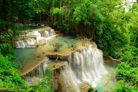 Huay Mae Kamin Waterfall in Khuean Srinagarindra National Park