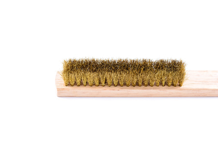 Wire brush isolated on white background