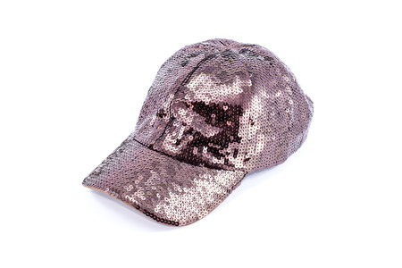 Brown cap isolated on white background