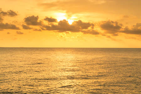 Colorful sunset above the sea Stock Photo