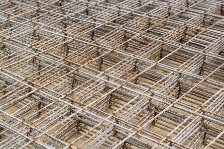Mesh steel rod for construction Stock Photo