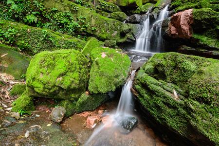 soi: Sai Tip waterfall in Phu Soi Dao National Park, Uttaradit Province Thailand.