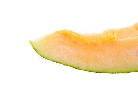 cantaloupe oval shape isolated on white background