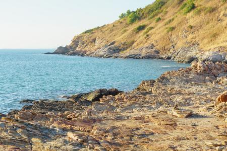 Mountain stone and sea on Khao Laem Ya - Mu Ko Samet National Park, Rayong Province, Thailand