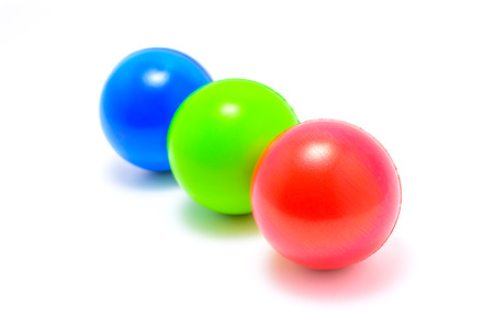 colour ball Red Green Blue RGB on white background