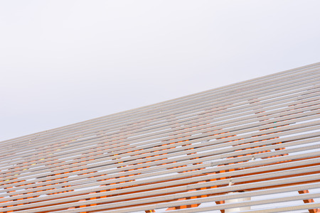 structuring: structural steel beam on roof of building Stock Photo