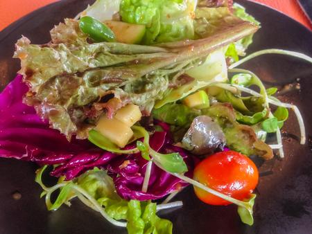 vegetable salad vegetable salad on a plate