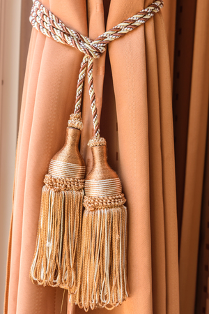 luxury house: Curtains tassel for interior luxury house Stock Photo