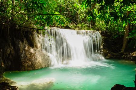 khamin: Huay Mae Kamin Waterfall in Khuean Srinagarindra National Park, Kanchanaburi Province Stock Photo