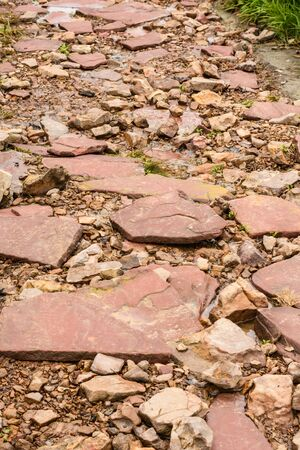 stone walkway outdoor in the garden Foto de archivo