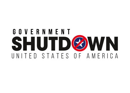 SHUTDOWN - Government shutdown in the United States Фото со стока - 115727549