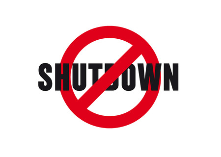 SHUTDOWN - Government shutdown in the United States Illustration
