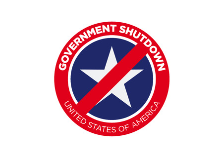 SHUTDOWN - Government shutdown in the United States 向量圖像
