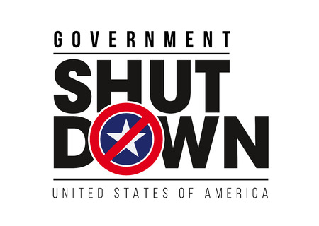 SHUTDOWN - Government shutdown in the United States Ilustrace