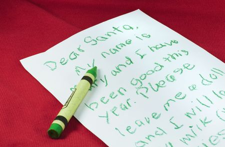 Letter written to Santa by a child.