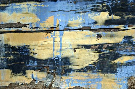 splintered: Close-up of the hull of an old boat.