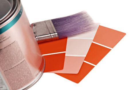 Paint, Brush and Color Samples Imagens