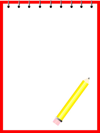 Vector of a Pencil and Paper
