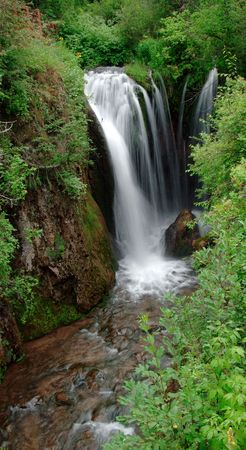 south dakota: Roughlock cascata in Spearfish Canyon situato nel Black Hills del South Dakota.
