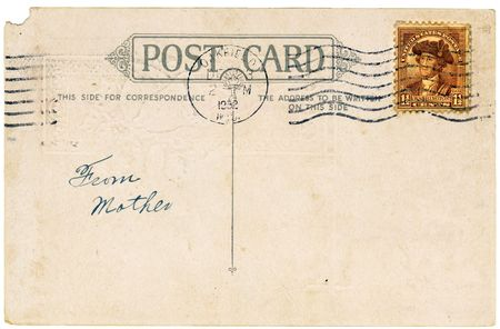 Vintage postcard with a stamp. Room to add your own message. Stock Photo - 3549431
