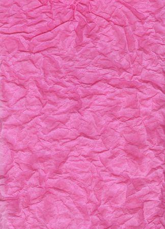 ピンクのティッシュ ペーパー バック グラウンド テクスチャのしわくちゃ。 写真素材