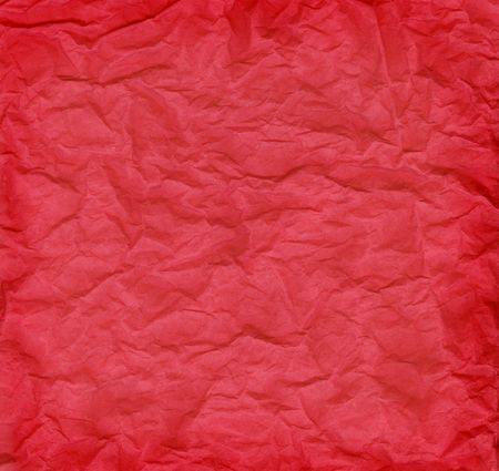 Crumpled red tissue paper for a background texture. Banco de Imagens - 3593520