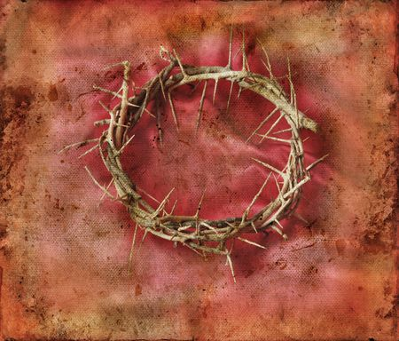 Crown of Thorns on a red grunge background. Stock Photo - 3808550