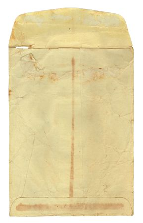 old envelope: Vintage stained, used, manila envelope for a background.