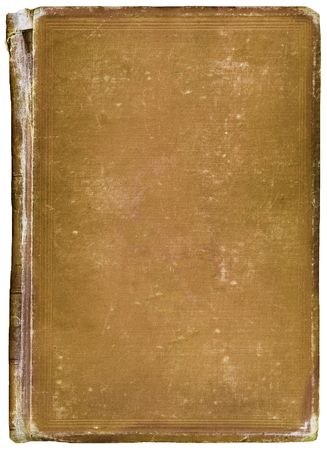 Old worn vintage book with copy-space for your own text.