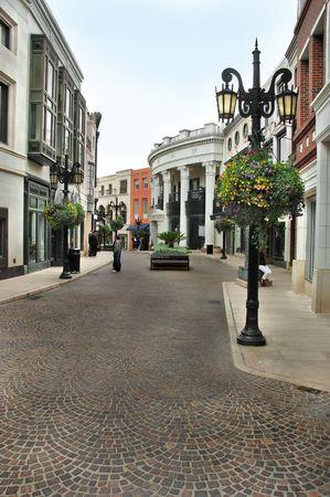 via: The cobblestone street of Via Rodeo in Beverly Hills California.