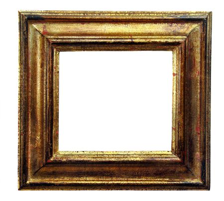 Vintage gold leaf picture frame empty for your own artwork or copy.