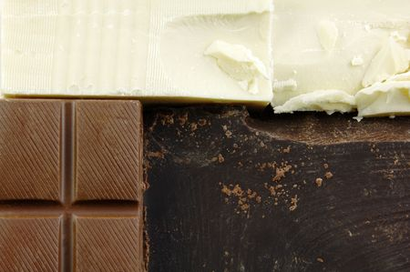 semisweet: Different types of chocolate perfect for use as a background.