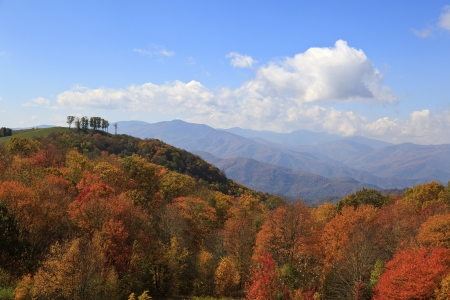 View from Max Patch Road in the North Carolina mountains in autumn photo