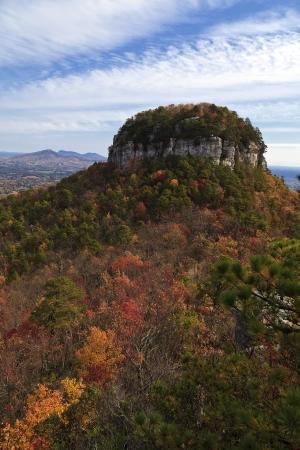 Pilot Mountain in North Carolina 免版税图像