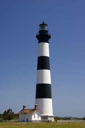 lighthouse keeper: Bodie Island Lighthouse with Keeper s House