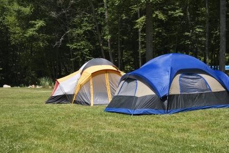 Camping Tents Banco de Imagens