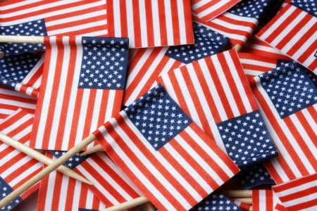 American Flag Toothpicks Background Stock Photo - 17363055