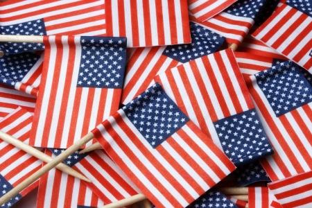 American Flag Toothpicks Background Stock Photo - 17363055
