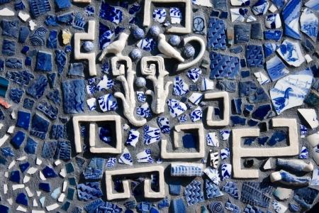 ブルーのモザイク タイル 写真素材