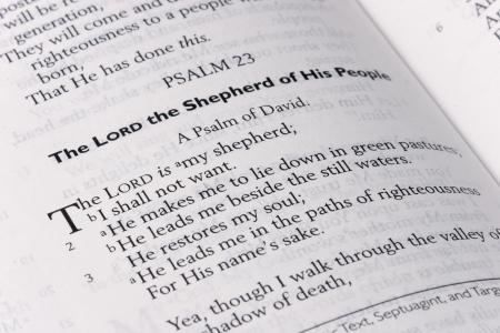 salmo: Salmo 23 della Bibbia Pagina Archivio Fotografico