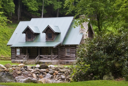 Log Cabin in the Summer photo