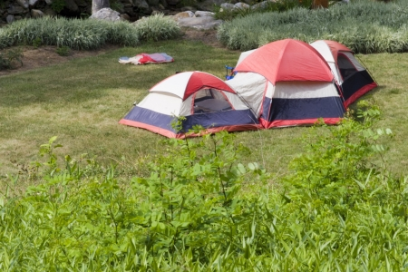 Large Camping Tent Banco de Imagens