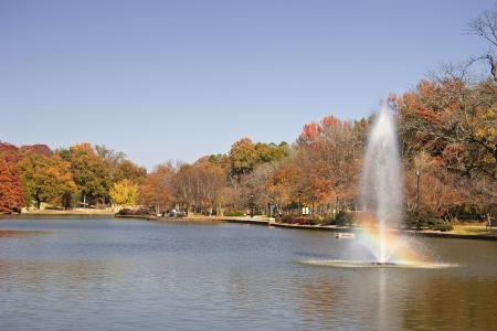 Freedom Park in Charlotte with Fountain Stock Photo - 17510470
