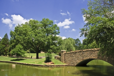 Freedom Park Bridge in Charlotte Stock Photo - 17510479