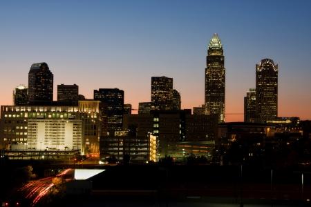 nite: Charlotte, NC, Skyline at Dusk