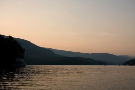 Lake Lure at Sunset Stock Photo - 17589144
