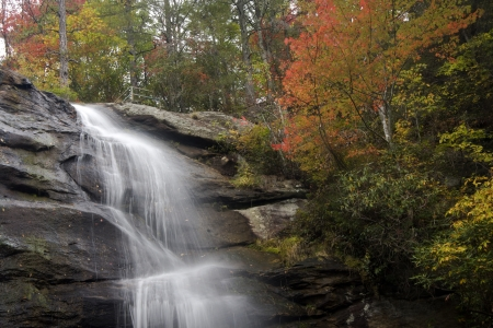 nc: Glen Falls in Macon County, NC Stock Photo