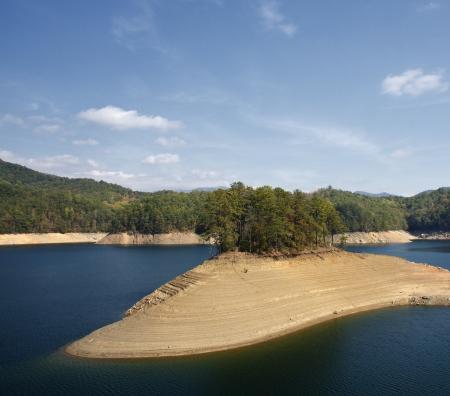 Low Water Levels Lake Fontana Stock Photo - 17589192