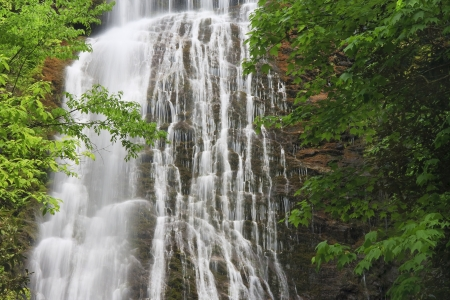 nc: Waterfall - Mingo Falls in NC Stock Photo