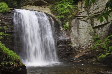 nc: Looking Glass Falls in NC Stock Photo